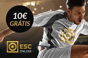 ESC Online Aposta Grátis de 10€ + Freebets + Bónus de 250€