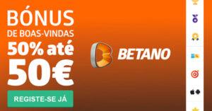 Betano Bónus de 50% até 50€ em Apostas Desportivas