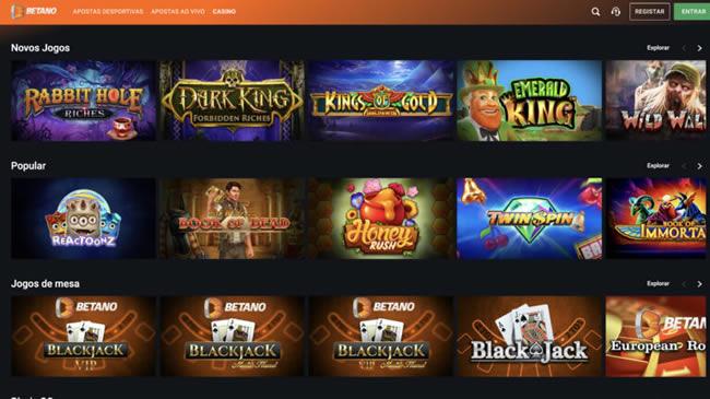 Betano Jogos de Casino