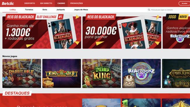 Betclic Jogos de Casino