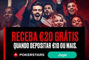 PokerStars €10 em Spins Grátis sem Depósito + Bónus de 20€